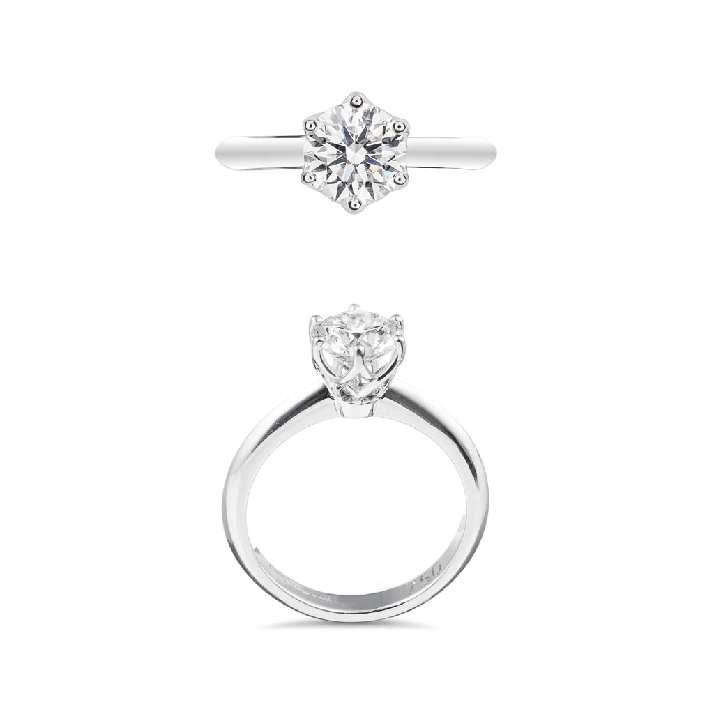 1.2ct solitaire diamond engagement ring