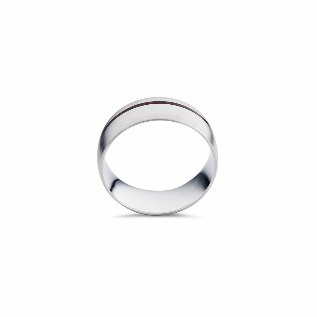 sterling silver ceramic gents ring