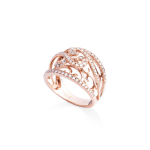 ladies 18ct rose gold diamond ring
