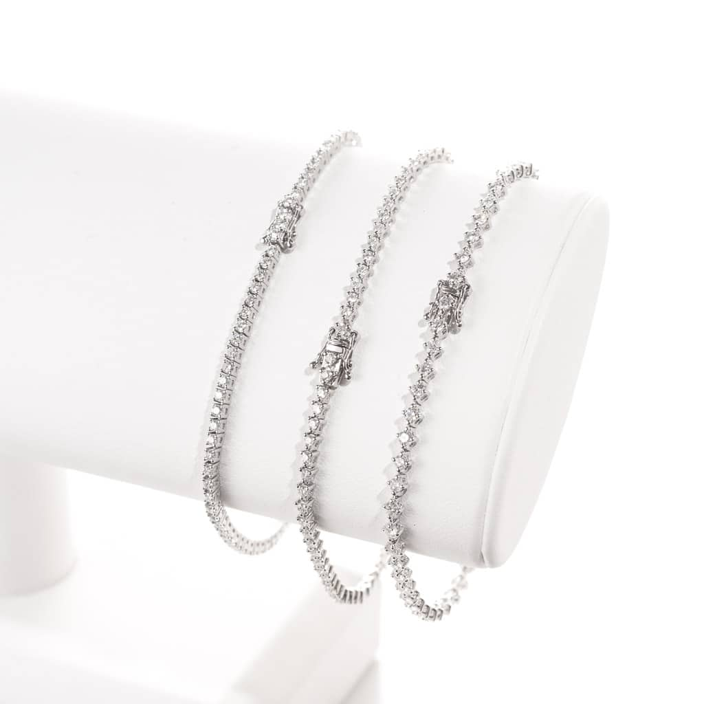 brilliant cut diamond bracelet