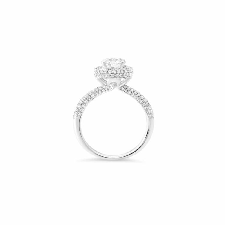 diamond engagement ring(side view)