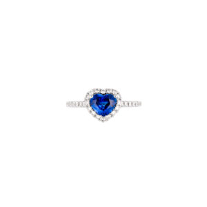 kashmir blue sapphire and diamond ring(top view)