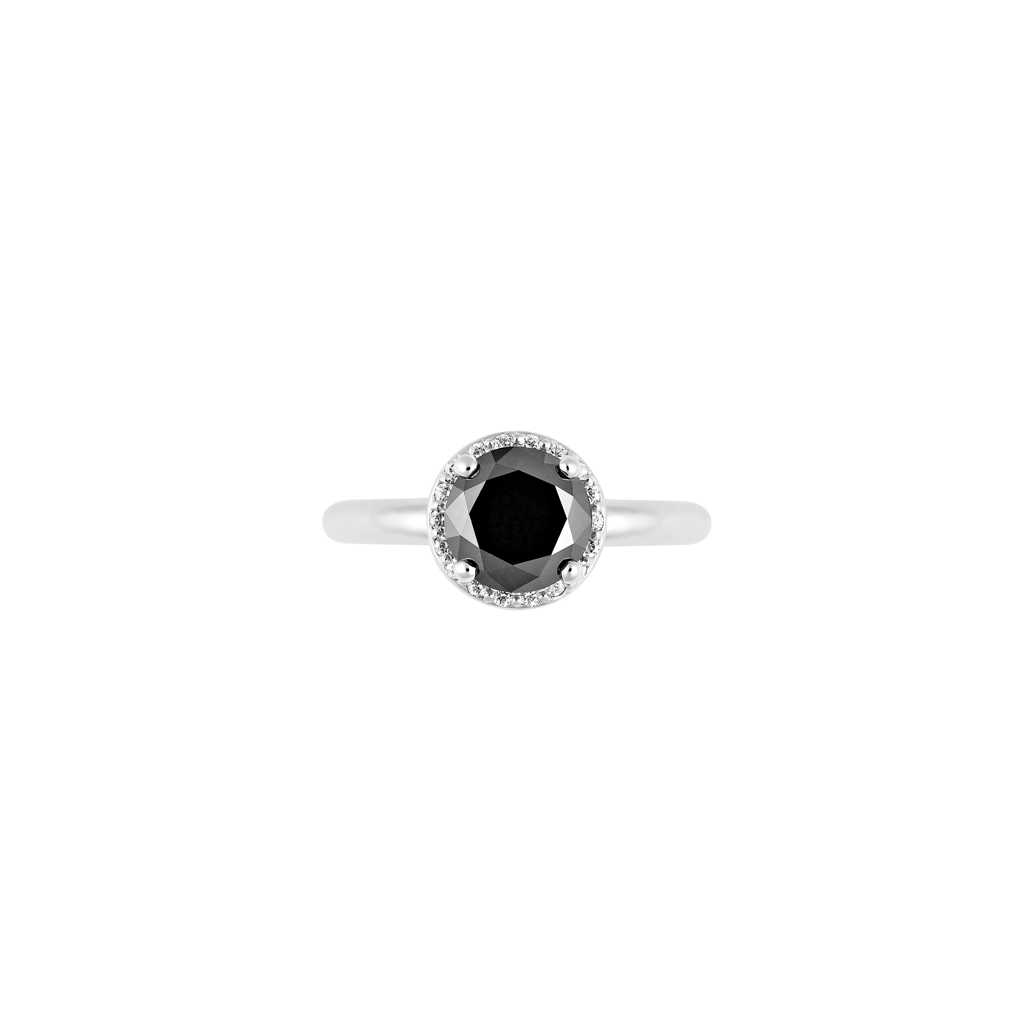 black diamond engagement ring(top view)