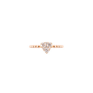 18ct rose gold and diamond ring