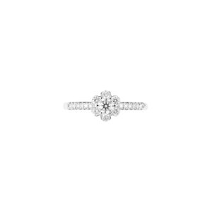 snowflake diamond engagement ring(top view)