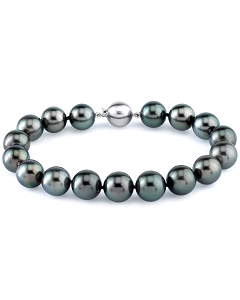 black Tahitian pearl bracelet with 18ct white gold clasp