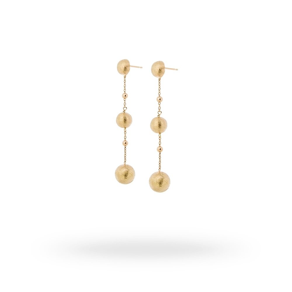 18ct yellow hard gold plated drop earrings in s/s