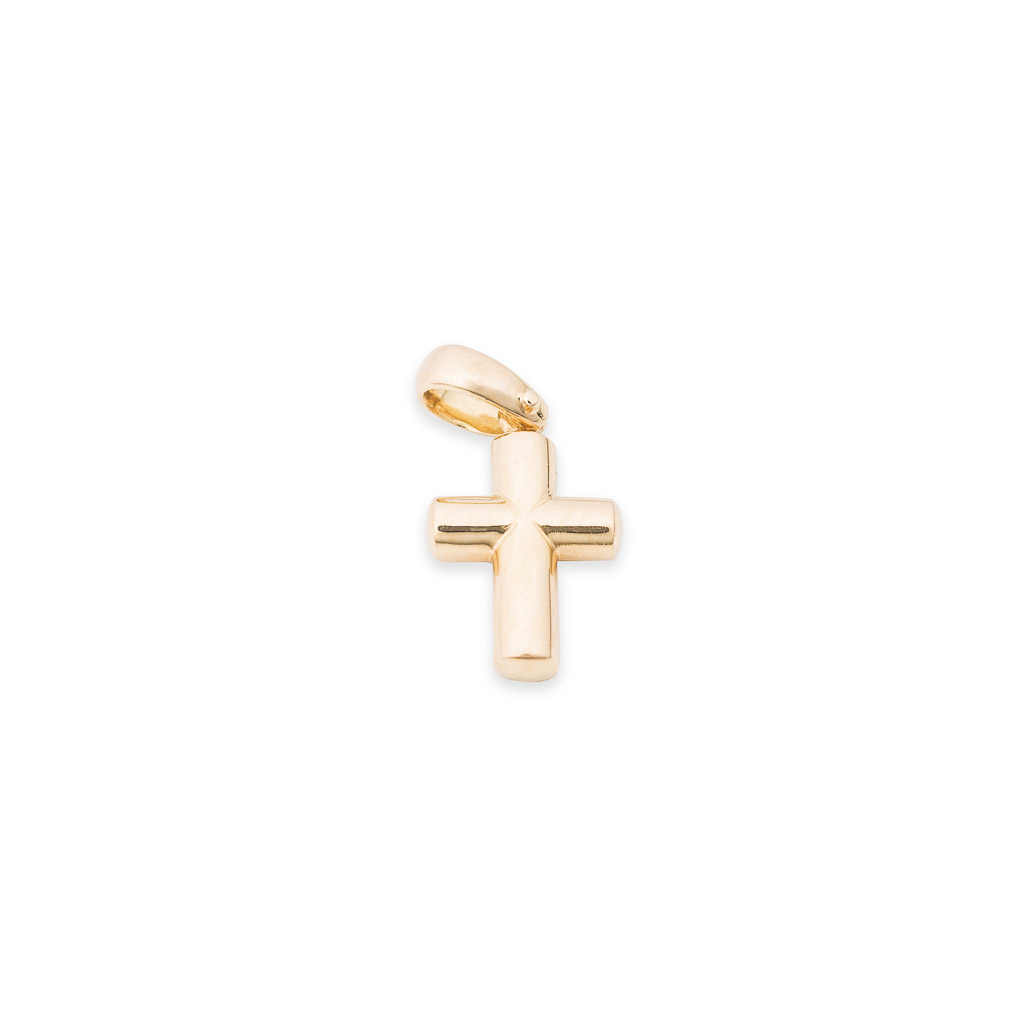 18ct yellow gold cross pendant